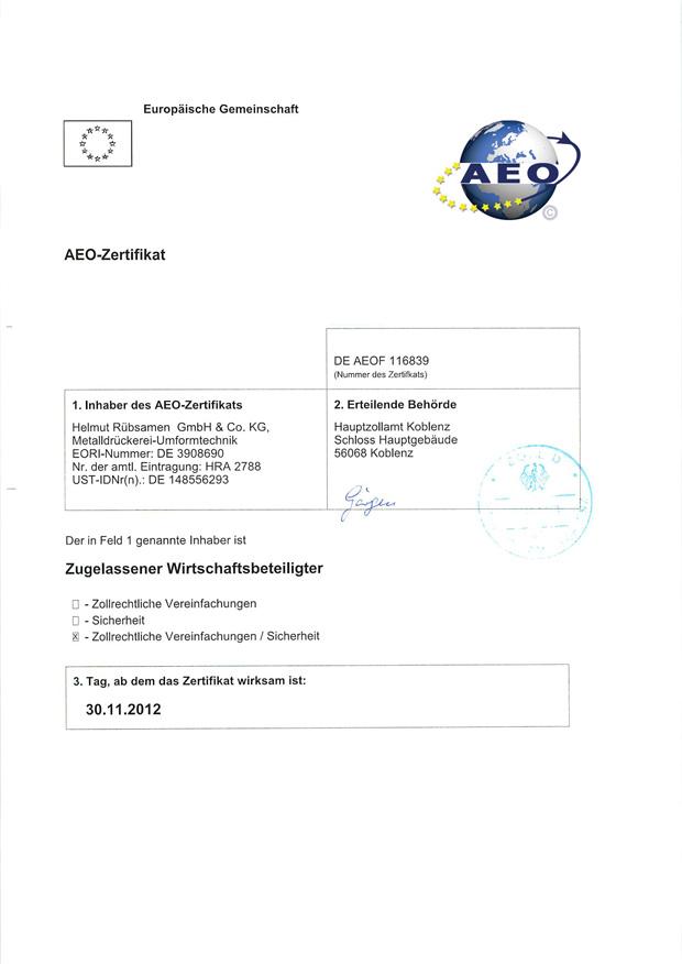 DE AEO F 116839